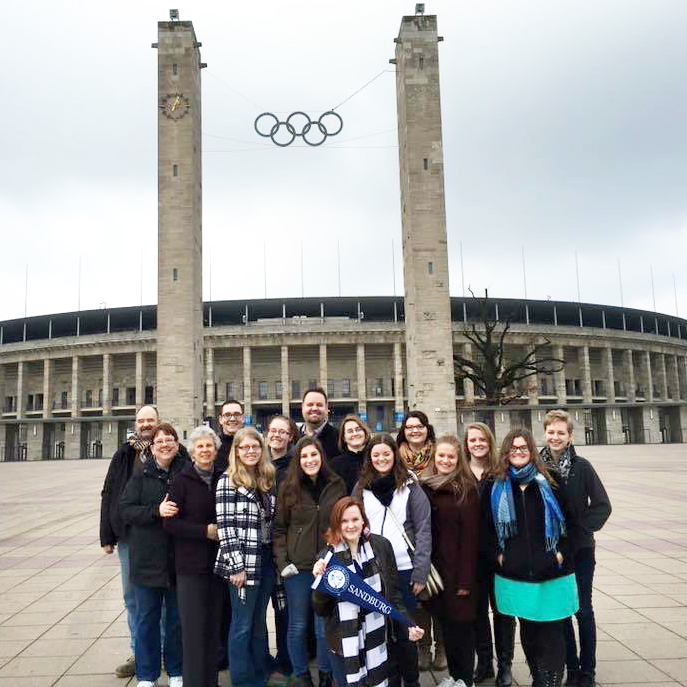 group of students in Germany